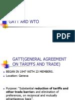 Gatt and Wto
