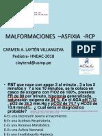 Malformaciones –Asfixia -RCP (Preguntas)