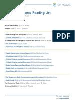 Travel Intelligence Reading List