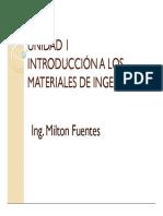 UNIDAD 1 Introduccion a La Ingenieria de MAteriales