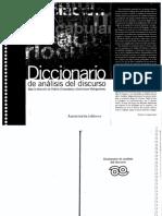 Charaudeau Patrick y Maingueneau Dominique Dirs  - Diccionario de análisis del Discurso.pdf