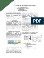 Arquitectura de Acceso de Memoria de Un Microprocesador
