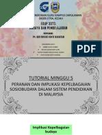 PERANAN DAN IMPLIKASI KEPELBAGAIAN SOSIOBUDAYA DALAM SISTEM PENDIDIKAN DI MALAYSIA
