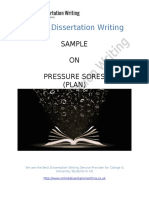 Sample on Pressure Sores for Medical Students in UK