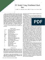 Iterative DCOPF Model Using Distributed Slack Bus