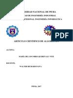 Universidad Nacional de Piura Informe