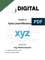 Digital Design Fundamentals (Ch.3 - Gate Level Minimization)