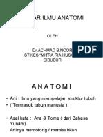 Dasar Ilmu Anatomi