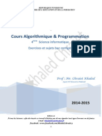 Cours Algorithmique Et Programmation 4 Si(Full Permission)