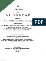 Miguel de Mañara. Discurso de La Verdad