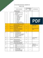 Daftar Tilik Dokumen Akreditasi Ukp