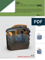 Detalii Tehnice Separator de Hidrocarburi