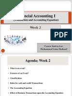 Financial Accounting 1 Week 2