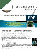 BBM 3212 Unit 3 Kuliah 1 Peringkat Perkembangan Semantik. Edit Ppt