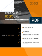 Tensors and Generalized Hooks Law