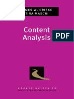 Content Analysis Oleh James W. Drisko and Tina Maschi
