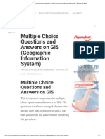 Multiple Choice Questions and Answers on GIS (Geographic Information System)