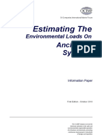 Estimating the Environmental Loads on Anchoring Systems