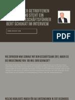 Geschäftsführer Bert Schukat im Interview