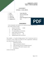 Assignment No 5 - Project Management Techniques