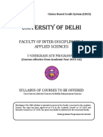 DELHI UNIVERSITY_B.sc. (Hons.) Instrumentation