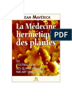Mavérick, Jean - La Medecine Hermetique Des Plantes (XXXX)