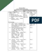 Tabel Spesifikasi New