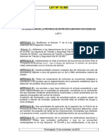 Ley Provincial Nº 10.460