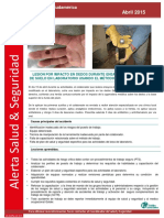 Alerta HS GAPSA Abril 2015 Lesion en Dedos