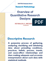 Session 4 Quantitative Research Designs