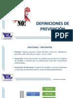 Definiciones de Prevencion - Actividad 6.1