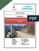 Informe de Monitoreo Topográfico de Taludes