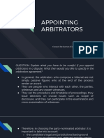 Appointing Arbitrators