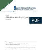 Three Fallacies of Contemporary Jurisprudence