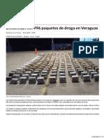 Decomisan 1996 Paquetes de Droga en Veraguas