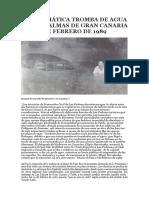La Enigmatica Tromba de Agua Del 16 de Febrero de 1989 en Las Palmas de Gran Canaria