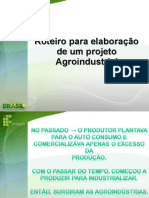 Aula 3a- Roteiro Projeto Agroindustria