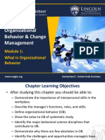 Module 1 - What is Organizational Behavior