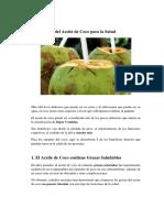 8 Beneficios Del Aceite de Coco Para La Salud