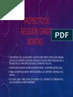 Proyecto de Religion Grado Noveno