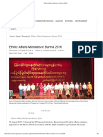 Ethnic Affairs Ministers in Burma 2016