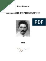 Karl Korsch - Marxisme Et Philosophie (1923)