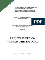 Memorial Descritivo - Projeto Elétrico Trifásico Residencial