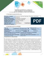 Guía de actividades y rubrica de evaluación -  Paso 6- Diagnostico SSP