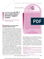 Considerations for a Successful Clinical Decision Support System