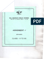 Bal Bharati Public School - Assignment-Hindi and Sanskrit -class 6-8