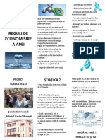 Reguli de Economisire a Apei