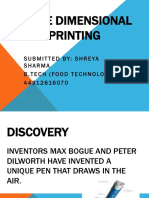Three Dimensional Printing