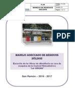 3. ANEXO N° 03. PLAN DE MANEJO  DE RESIDUOS SOLIDOS