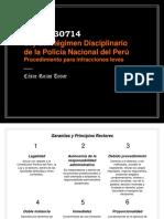 Ley 30714, que regula el Régimen Disciplinario de la Policía Nacional del Perú.